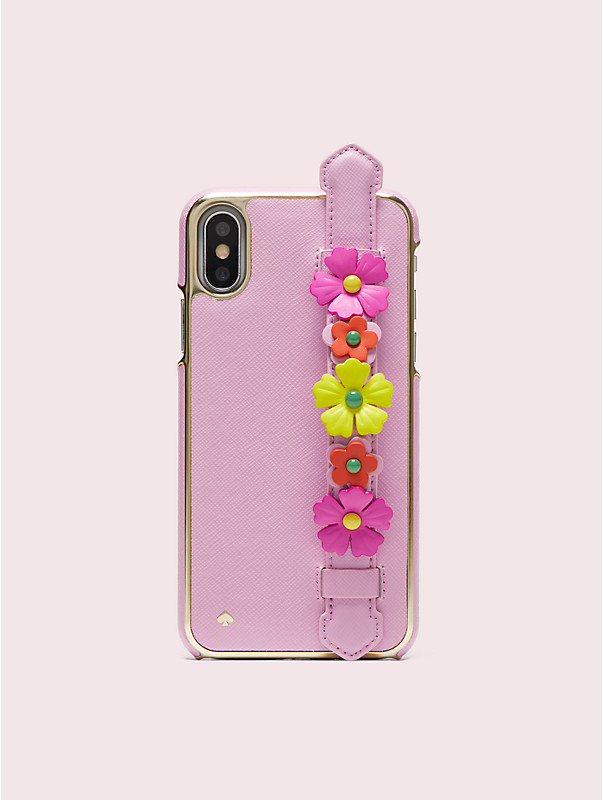 floral iphone x & xs handstrap stand case, , rr_large