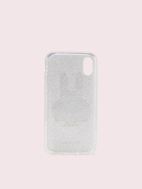 Spademals glitter bunny iphone x & xs case | Kate Spade New York