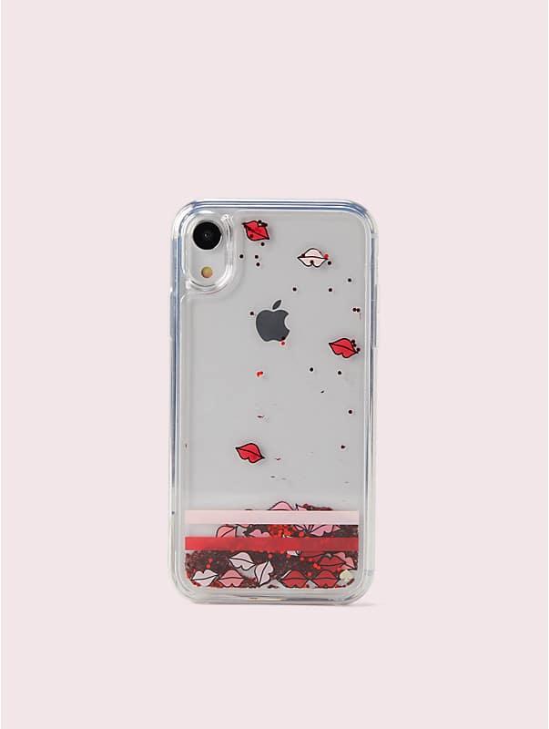 lips liquid glitter iphone xs case, , rr_large