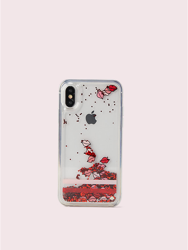 lips liquid glitter iphone x & xs case, , rr_large
