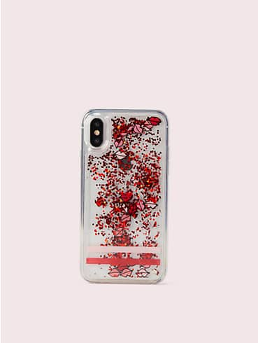 lips liquid glitter iphone x & xs case, , rr_productgrid