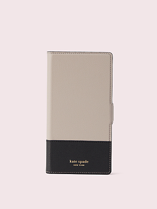 sylvia iphone xs max magnetic wrap folio case by kate spade new york non-hover view
