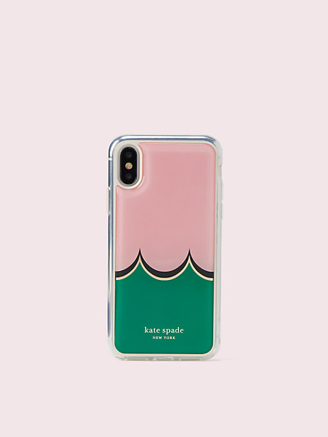 scallop hands-free iphone x & xs case by kate spade new york