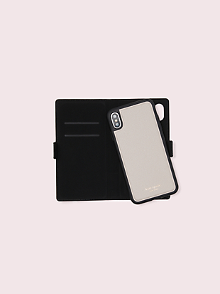 sylvia iphone x & xs magnetic wrap folio case by kate spade new york non-hover view