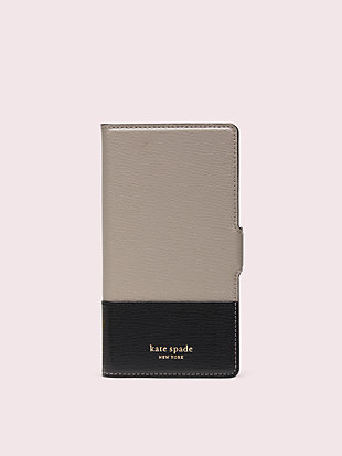 sylvia iphone x & xs magnetic wrap folio case by kate spade new york hover view