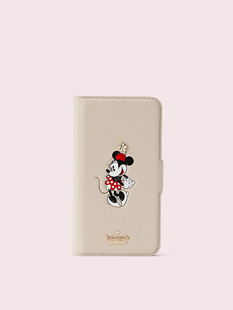 kate spade new york x minnie mouse iphone xr folio case by kate spade new york