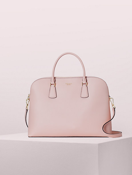sylvia universal slim laptop bag, pale vellum, large by kate spade new york