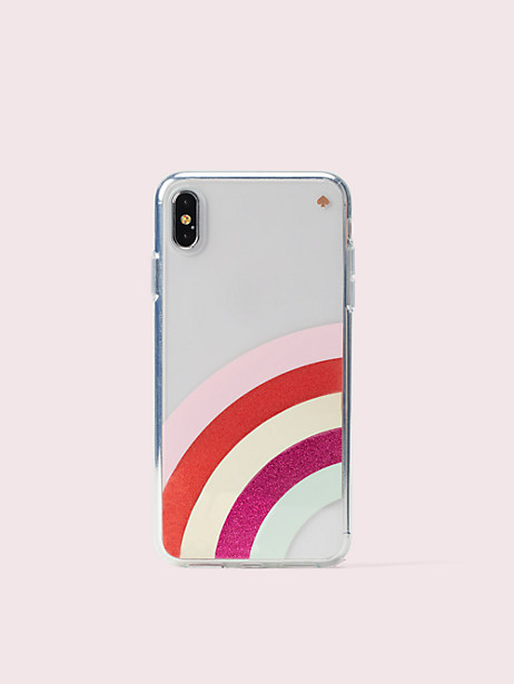 glitter rainbow iphone xs max case by kate spade new york