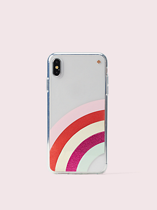 glitter rainbow iphone xs max case by kate spade new york non-hover view
