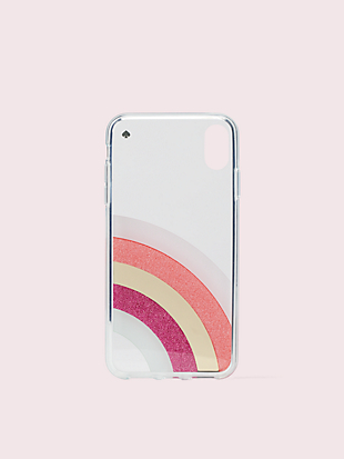 glitter rainbow iphone xs max case by kate spade new york hover view