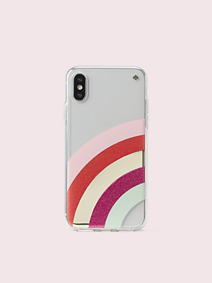 glitter rainbow iphone x & xs case by kate spade new york non-hover view