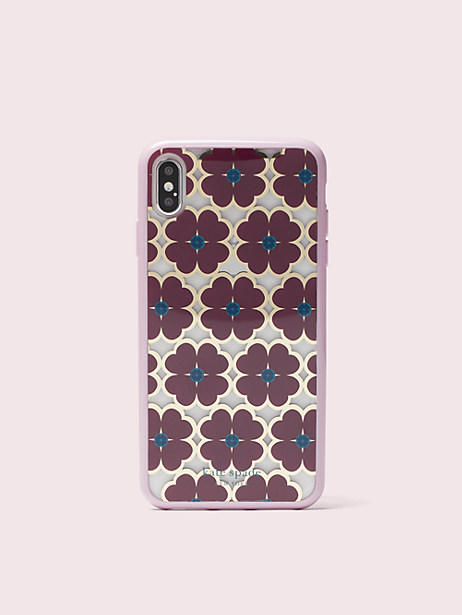 graphic clover iphone xs max case by kate spade new york