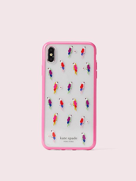 jeweled flock party iphone x & xs case by kate spade new york
