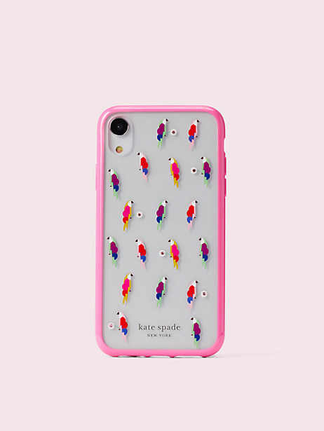 jeweled flock party iphone xr case by kate spade new york