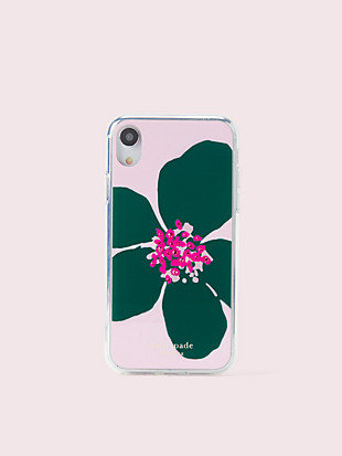 jeweled grand flora iphone xr case by kate spade new york non-hover view