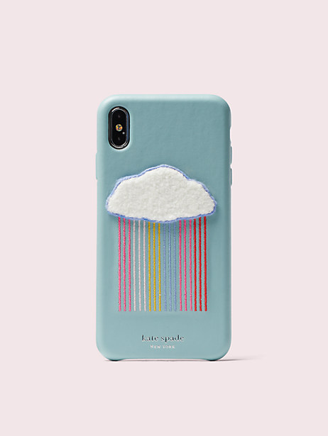 rainbow cloud patch iphone xs max case by kate spade new york
