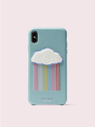 rainbow cloud patch iphone xs max case, , rr_productgrid