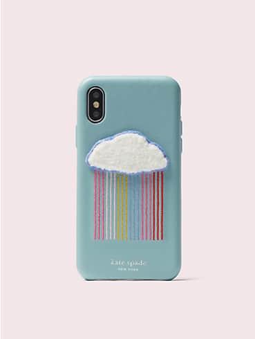 rainbow cloud patch iphone x & xs case, , rr_productgrid