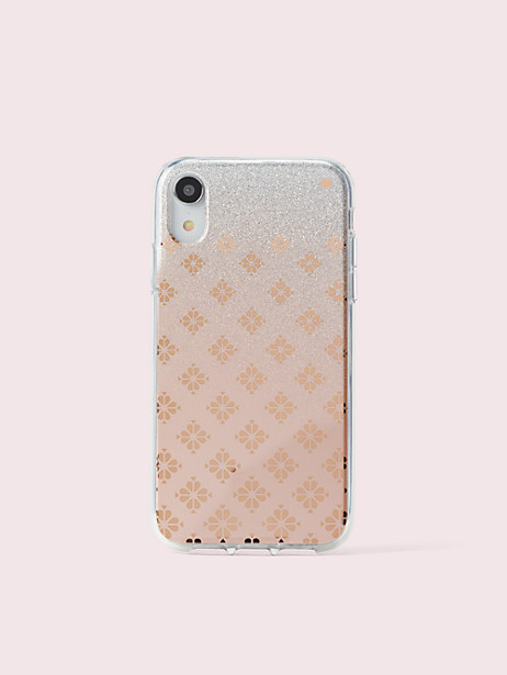 spade flower ombré iphone xr case by kate spade new york