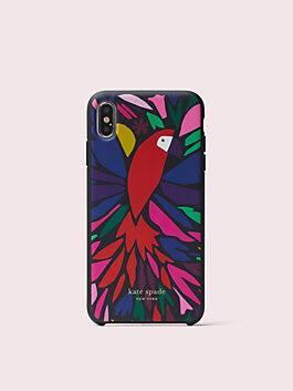papercut parrot iphone xs max case, multi, medium