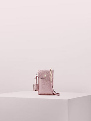 glitter north south flap phone crossbody by kate spade new york non-hover view