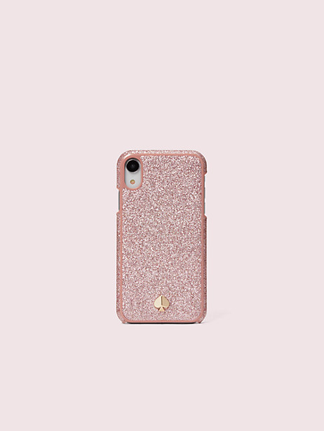 glitter inlay iphone x & xs case by kate spade new york