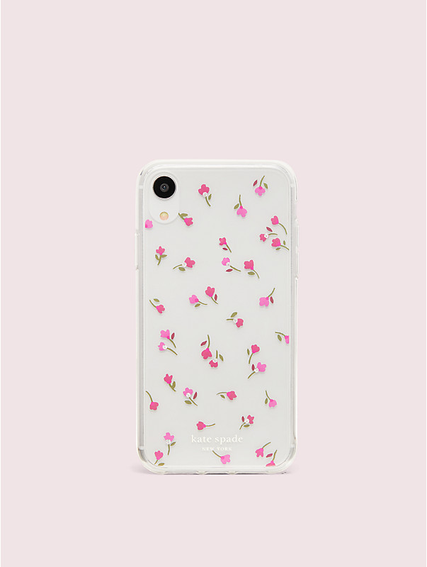 jeweled meadow clear iphone xr case, , rr_large