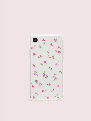 jeweled meadow clear iphone xr case, , rr_productgrid