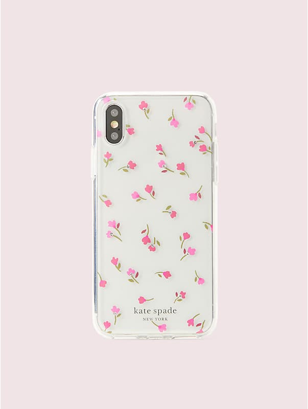 jeweled meadow clear iphone xs case, , rr_large