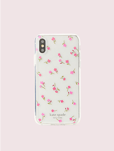 jeweled meadow clear iphone xs case, , rr_productgrid