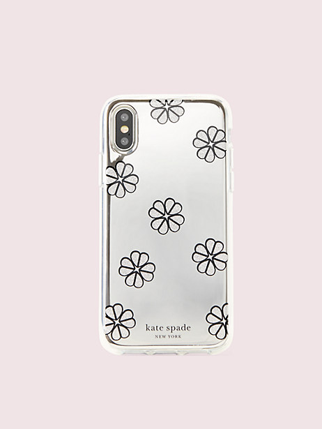 mirror spade clover toss iphone xs case by kate spade new york