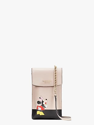 kate spade new york for minnie mouse north south flap phone crossbody by kate spade new york non-hover view