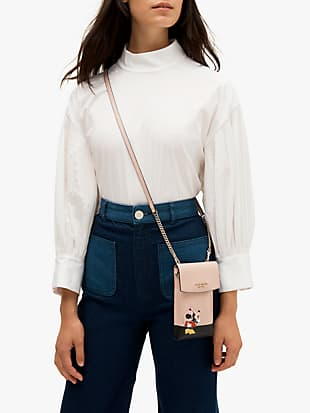kate spade new york for minnie mouse north south flap phone crossbody by kate spade new york hover view