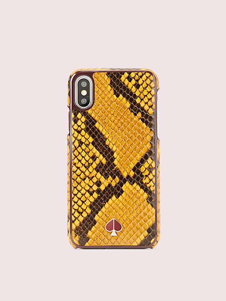 snake embossed iphone xs case by kate spade new york