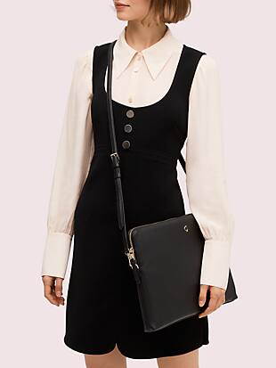 polly laptop sleeve with strap by kate spade new york hover view