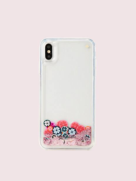 spade flower liquid glitter iphone xs max case by kate spade new york