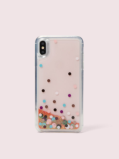 disco dots liquid glitter iphone xs max case by kate spade new york