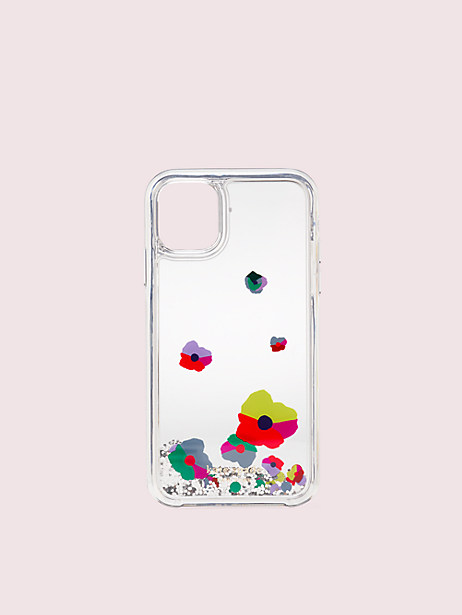 collage liquid glitter iphone 11 case by kate spade new york