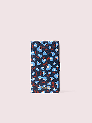 sylvia party floral iphone 11 magnetic wrap folio case by kate spade new york non-hover view