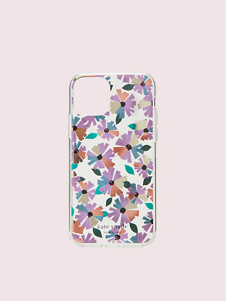 jeweled clear floral iphone 11 pro case by kate spade new york