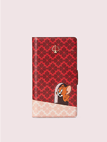kate spade new york x tom & jerry iphone 11 pro magnetic wrap folio case, , rr_productgrid