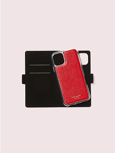 kate spade new york x tom & jerry iphone 11 magnetic wrap folio case, , rr_productgrid