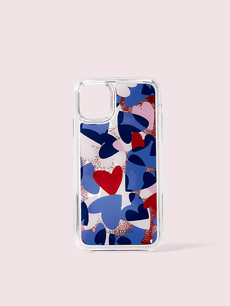 heart party liquid glitter iphone 11 case by kate spade new york