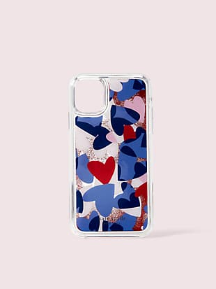 heart party liquid glitter iphone 11 case by kate spade new york non-hover view