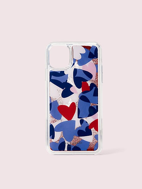 heart party liquid glitter iphone 11 pro case by kate spade new york
