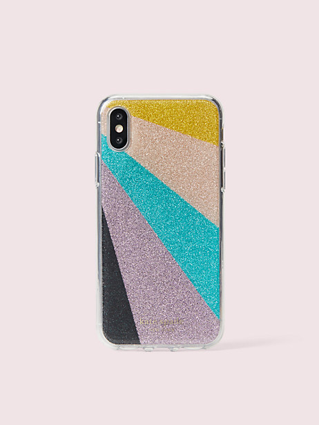 radiating glitter iphone xs case by kate spade new york