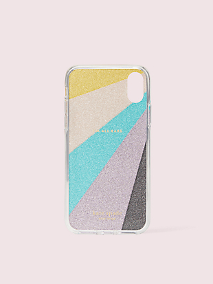 radiating glitter iphone xs case by kate spade new york hover view