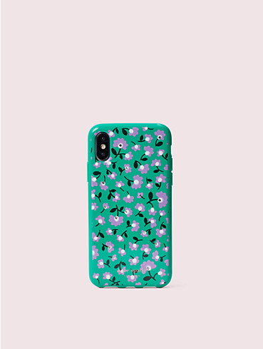 jeweled party floral iphone x & xs case, , rr_productgrid