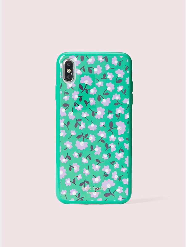 jeweled party floral iphone xs max case, , rr_large
