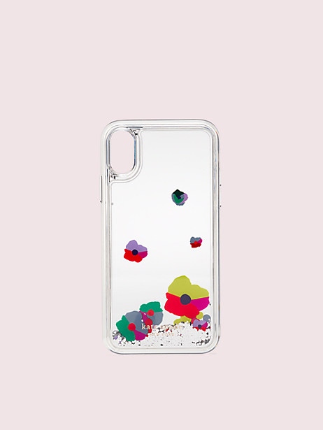 collage liquid glitter iphone xs case by kate spade new york